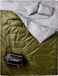 amazon com double sleeping bag for backpacking camping or