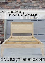 diy design fanatic distressed finish farmhouse bed