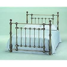 victoria 5ft king size traditional antique brass bed by harmony