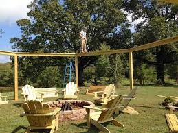 Span Tables For Pergolas by How To Build An Outdoor Pergola Firepit And Swings