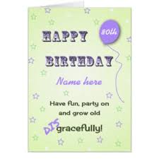 80 year old birthday greeting cards zazzle