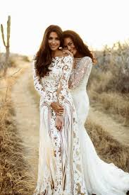 beach wedding dresses 2016 high neck lace long sleeves open back