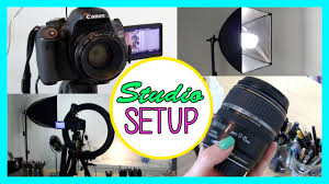 camera and lighting for youtube videos my lighting camera studio setup how to create great videos