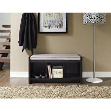 Indoor Bench Seat With Storage by Bench Wooden Bench With Cushion Bloomingville Straight Wooden