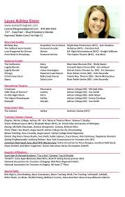 Dance Resume Template For College Musical Theatre Resume Template New Dance Resume Template