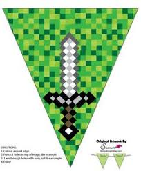 click here to get free minecraft party printables perfect for any