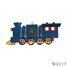 of the christmas train ornaments with card