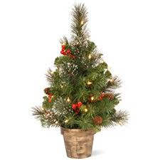 vickerman snow tip pine berry tree with 20 clear