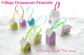 village ornaments printable during quiet time