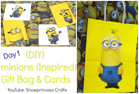 minion gift bags diy minions inspired gift bag cards