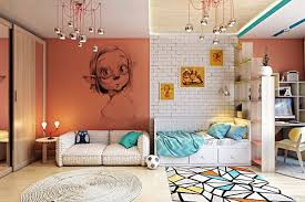 kids bedroom with amazing fairy themed wall hupehome cheerful and distinctive space kid s room