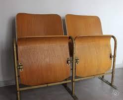 vintage siege vintage siege banquette bois cinéma 2 fauteuils ameublement pyrénées