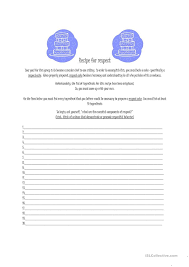 respect worksheet free worksheets library download and print
