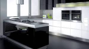 modern black and white kitchens stainless steel pull handler