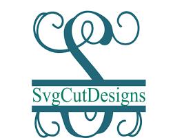 monogram letter s split letter svg split monogram letters split alphabet svg