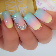 pastel coloured nail art image collections nail art designs