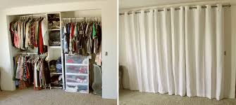 Curtain For Closet Door Closet With Curtains Instead Of Doors Www Redglobalmx Org