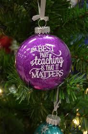 custom personalized glitter ornament great teachers gift gifts