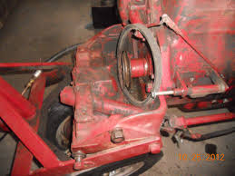 how to replace crank case pulley on 1948 farmall c with c 113 engine