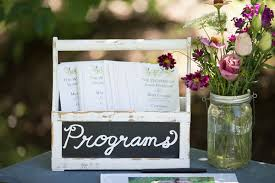 Country Wedding Programs Sarah U0026 Mark U0027s Charming Elburn Il Real Wedding By Elite Photo