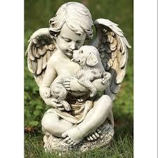 outdoor statues cherub statues