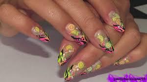 wild and refreshing nail art fimo slices zebra tiger stripes