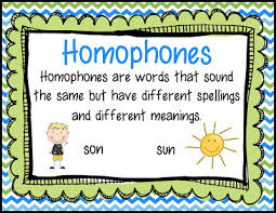 smiling and shining in second grade homophone anchor chart and