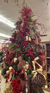 country christmas tree christmas trees decorated with burlap ribbon search