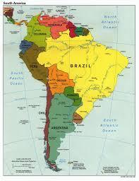 Latin America Blank Physical Map by Digital Maps U0026 Links Memographer