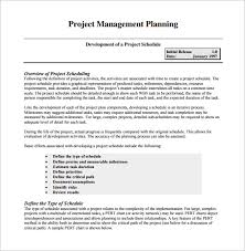 project management schedule template u2013 7 free word excel pdf