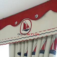 Nautical Valance Curtains Nautical Curtain Valance Nautical Style Thick Polyester Insulated