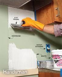 how to do backsplash in kitchen how to tile a diy backsplash family handyman