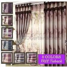 Blackout Purple Curtains Blackout Coffee Latte Brown Purple Plum Blue Valance Curtain