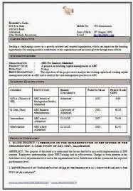 Mba Finance Resume Sample by Sample Resume For Mba Finance Freshers 6641