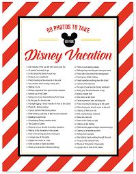 50 photos to take on your disney vacation free photo checklist