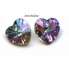 Making Swarovski Jewelry - 1 swarovski crystal 6228 vitrail light crystal heart glass bead