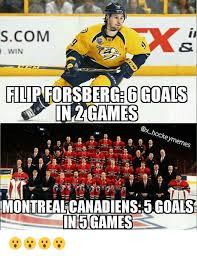 Montreal Canadians Memes - scom win filip forsberge6 goals in games es montreal canadiens 5