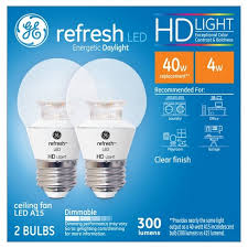 ge hd light refresh refresh daylight hd 60watt equivalent a15 ceiling fan bulb led 2pk
