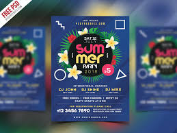 party flyer free free psd summer beach party flyer psd template by psd freebies