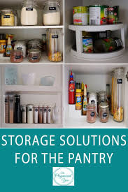 mission organization storage solutions for a deep pantry for