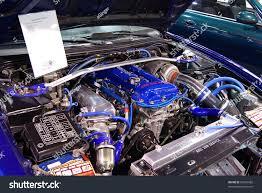 custom nissan 200sx budapestmarch 19 tuned blue nissan 200sx stock photo 56976982