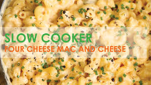 slow cooker four cheese mac and cheese damn delicious