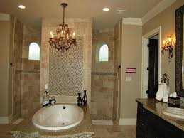 glass door beside calm wall paint bathroom walk in shower designs