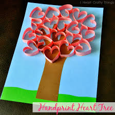 handprint heart tree craft heart tree and tree crafts