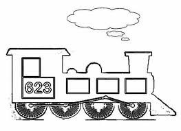 kids drawing steam train coloring netart