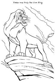 mufasa roar the lion king coloring page download u0026 print online