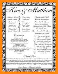 wedding program layout template 7 free wedding program templates resumed