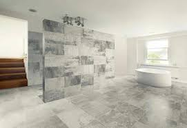 grey tile bathroom flat pebble vanity wall background grey marble floor material oval ivory acrylic bathtub white painted color window with clear glass bathroom tile trends furnit