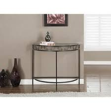 monarch specialties accent table monarch specialties chocolate brown metal hall console accent table