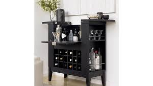 Crate And Barrel Bar Stool Parker Spirits Ebony Cabinet Crate And Barrel